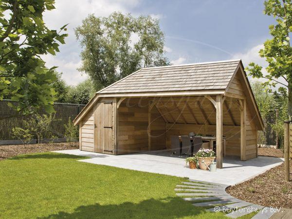 Mooi ruim tuinhuis met opbergschuur in landelijke stijl!