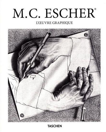 M. C. Escher / M. C. Escher - Des escaliers impossibles aux oiseaux en pavage, l'artiste néerlandais M. C. Escher (1898-1972) a élaboré un vocabulaire graphique où les maîtres-mots sont motif, casse-tête et mathématiques. Riches, complexes et structurées par des principes d'imbrication, ses créations sont également décoratives et ludiques, jouant constamment sur les illusions d'optique et les limites de notre perception sensorielle.