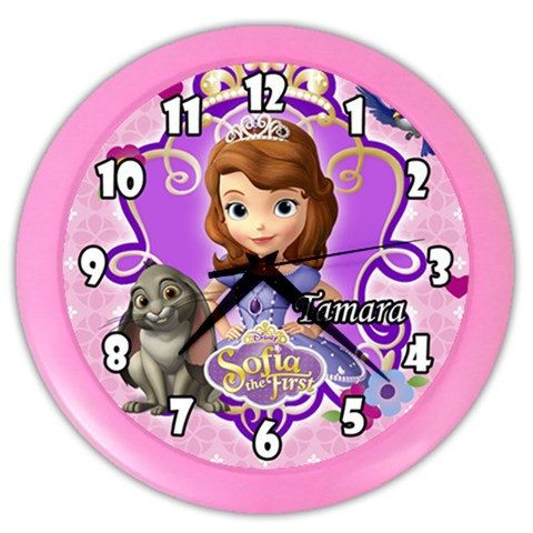 Disney Sofia the First Personalized Wall Clock  Great by KusCase, $14.99