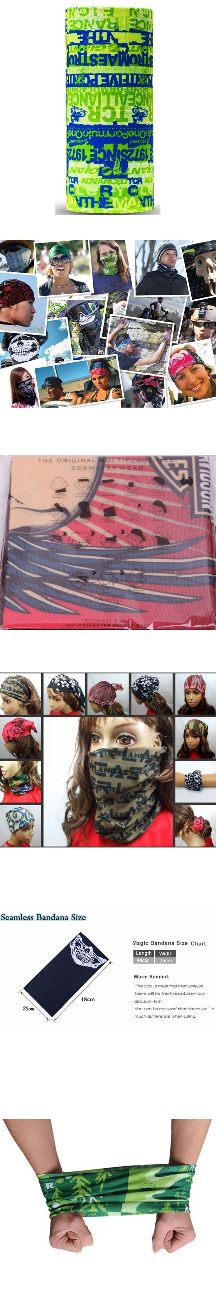 hijab Letter Cap Turban Stretch Green Bandana Head Wraps Harley Magic Scarf Headband Motorcycle Bandana kerchief Hood 255