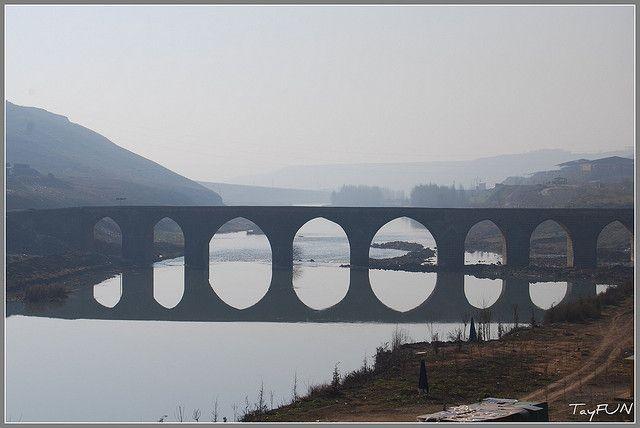 1000 years Old Bridge on Tigris (Dicle) River