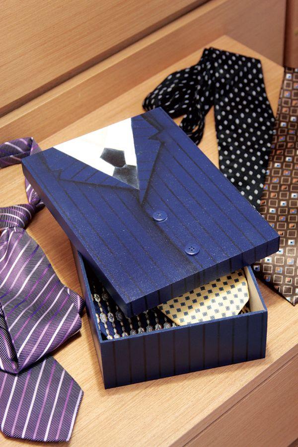 caja para las corbatas