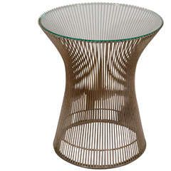 Midcentury Side Table Designed by Warren Platner for Knoll | From a unique collection of antique and modern side tables at https://www.1stdibs.com/furniture/tables/side-tables/