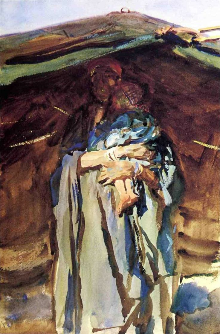 Renew watercolor artist magazine - Bedouin Mother John Singer Sargent Wikipaintings Org Watercolor