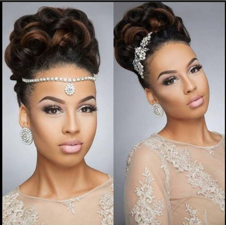 African Wedding Hairstyles, Wedding Hairstyles Half Up Half Down, Short Wedding Hair, Wedding Hairstyles For Long Hair, Black Women Hairstyles, Braided Hairstyles, Gown Wedding, Wedding Cakes, Wedding Rings