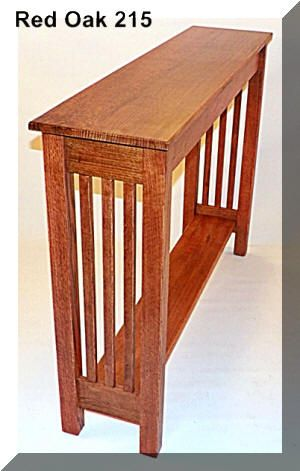Custom handcrafted to your size quarter sawn oak craftsman mission inspired console hall sofa table 26 colors made in usa