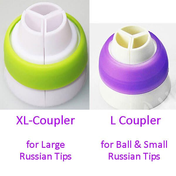 Coupler To Fit Large Russian Cake Decorating Tips