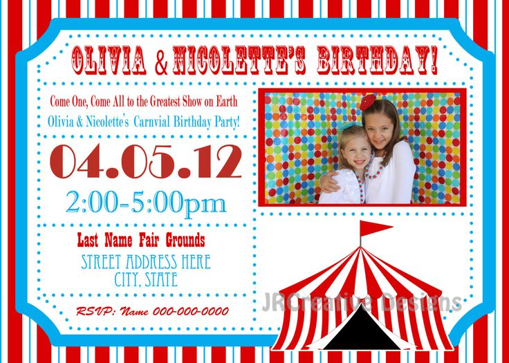 Best 25+ Circus invitations ideas on Pinterest Circus birthday - circus party invitation