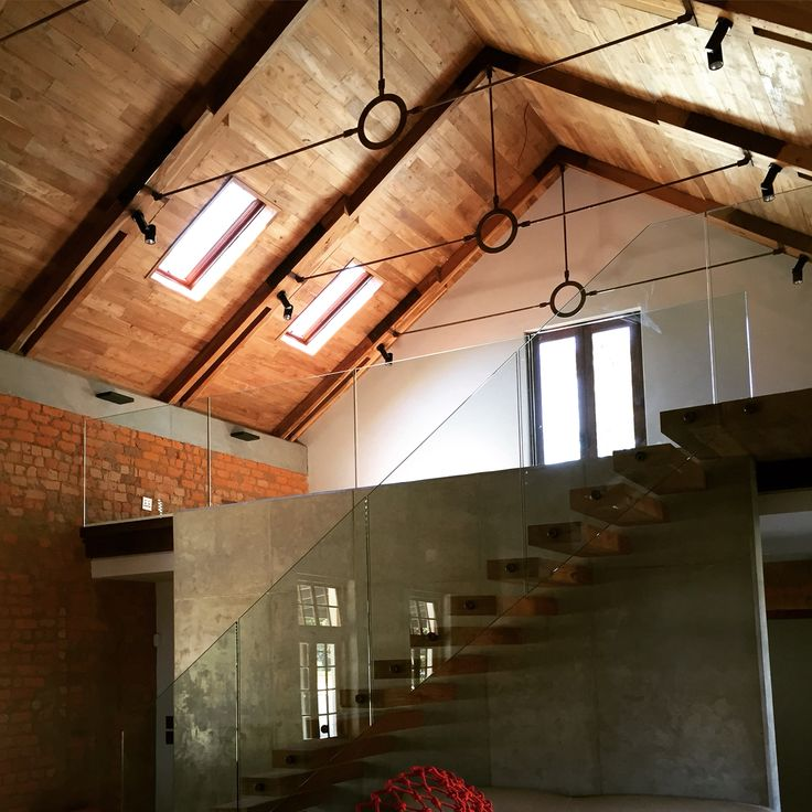 Teak ceiling and trusses with 2 Tony Sandell Roof Windows bringing in that warm natural light in Franschoek. #Oscarsark #TSRW #skylights