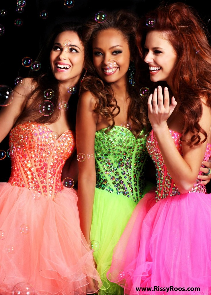 We LOVE these Adorable Jeweled Short  Dresses with a Sweetheart Neckline in Coral Hot Pink and Lime