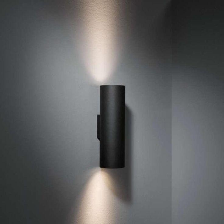 Modular Lotis Tubed 2x led retrofit Wandlamp zwart by Modular in Wandlampen - Binnenverlichting