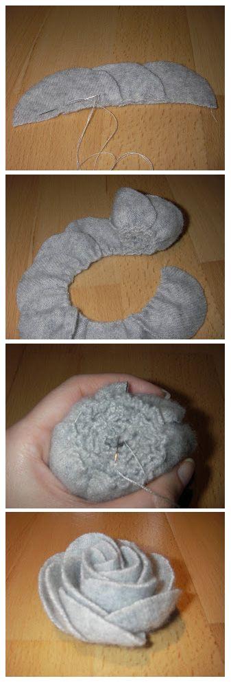 Fleur en tissu par Marie - A Stitching Odyssey