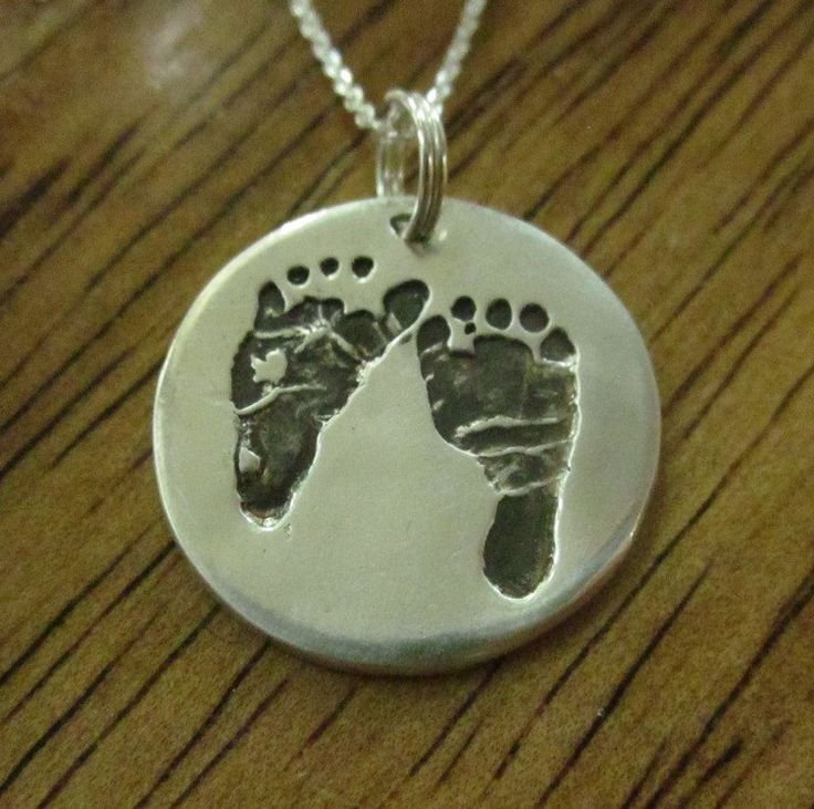 17 best custom baby pendants images on pinterest baby footprints silver baby footprint pendant made from your babys foot prints custom and personalized aloadofball Choice Image
