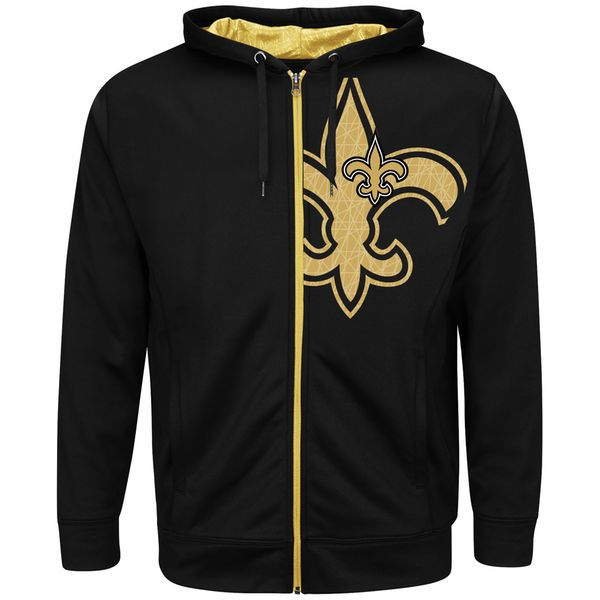 New Orleans Saints Majestic Coverage Sack Big & Tall Hoodie - Black - $75.99