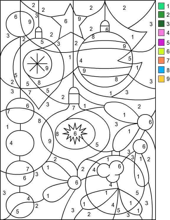 Christmas Ornaments Color By Number Printable Free Coloring Pages Christmas Color By Number Christmas Coloring Pages