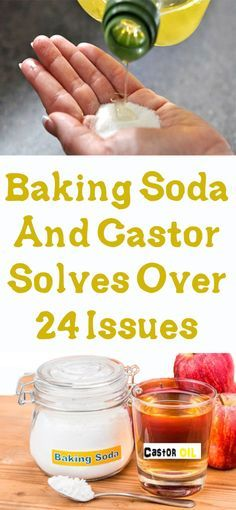 Baking Soda And Castor Solves Over 24 Issues #fitness #beauty #hair #workout #health #diy #skin
