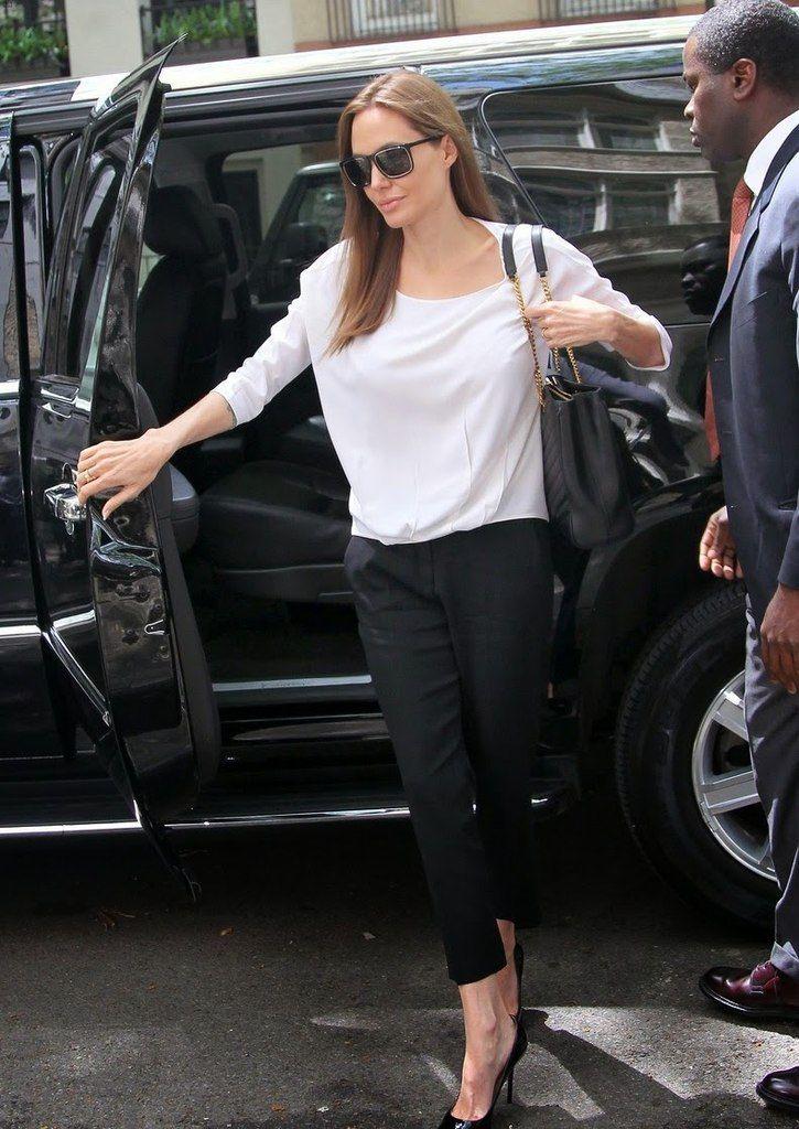 прямой силуэт Angelina Jolie2