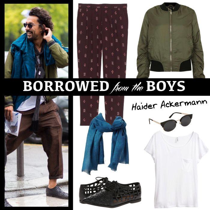 NEW style series: Borrowed From The Boys | www.fatfreefashion.com #haiderackermann #style