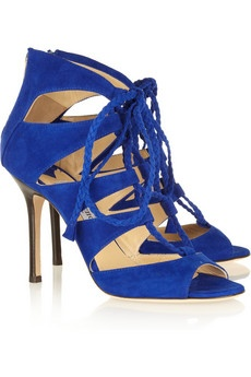 JIMMY CHOO  Gladys lace-up suede sandals