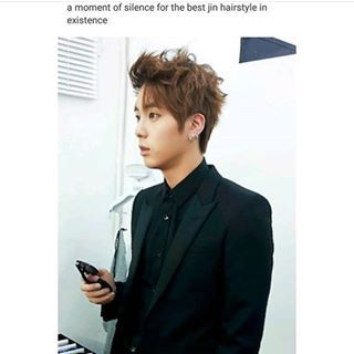 YAASSSS THIS WAS THE BEST JIN HAIRSTYLE HE LOOKED SO FREAKING HOT