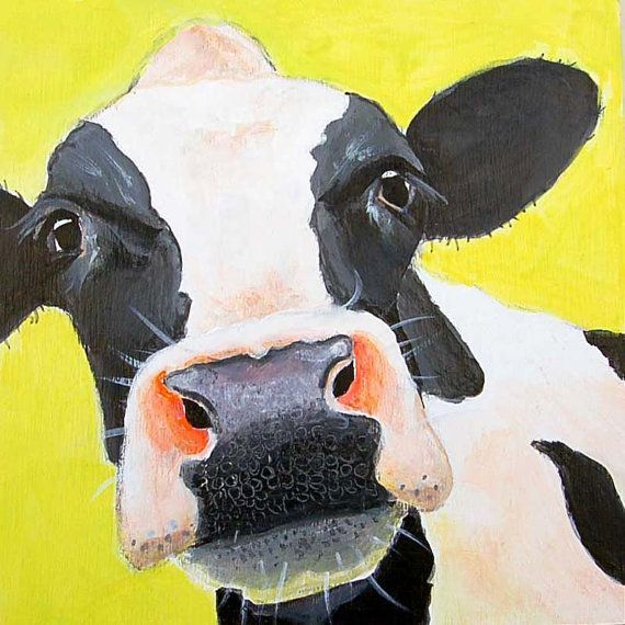 Pin By Yvonne Sloan On Rustic Farmhouse Decor Cow Canvas