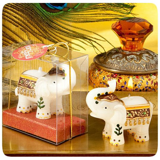 Good Fortune Elephant Candle Favors