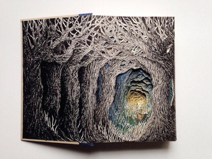Потрясающие произведения искусства из бумаги 3D иллюстрации высеченных в Отбрасываются Книги Исполнитель: Isobelle Ouzman Подробнее: Красивые 3D иллюстрации вдохнуть новую жизнь в отбрасывают Книги