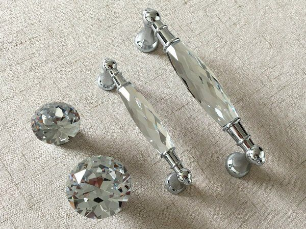 Pink Knob Glass Drawer Pull Crystal Handle Pull Knobs Rhinestone Dresser Pulls Handles Silver Back Plate Cabinet Handle Lynns Graceland