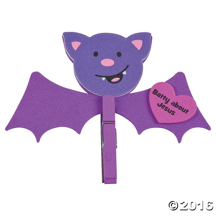 Batty for Jesus Clothespin Magnet Craft Kit - OrientalTrading.com
