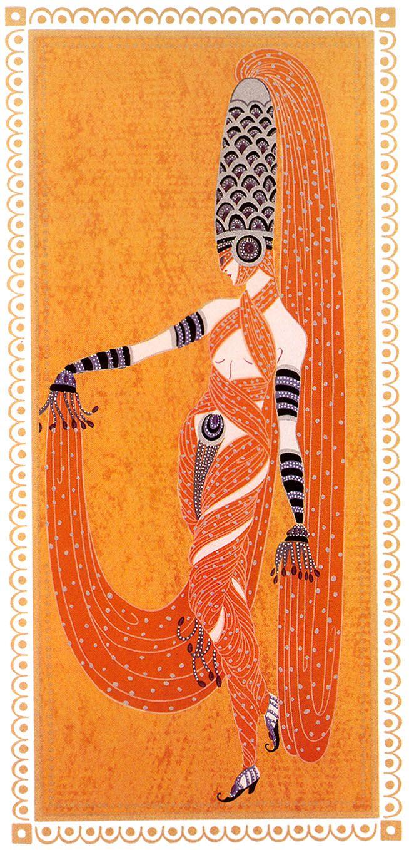 Erte-Sheerazade.Erte an artist who reflected the Art Deco movement