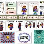 "Super start speech posters. 20 pages of SUPER posters!  -""Speech is Super"" on one page -3x Individual speech rules (one page per super hero/rule) -2x all 3 speech rules on one..."