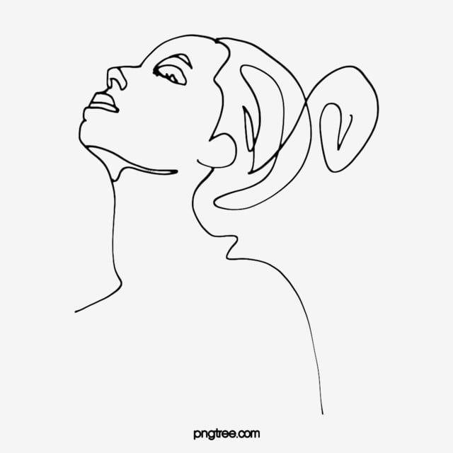 Hand Drawn Line Ball Head Woman Illustration Ear Lips Hair Png Transparent Clipart Image And Psd File For Free Download How To Draw Hands Woman Illustration Cartoon Clip Art
