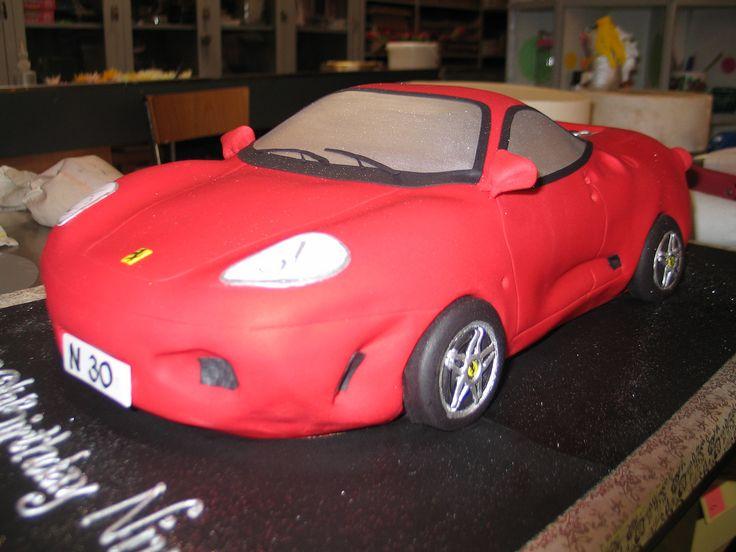 3D Ferrari car shaped birthday cake | by Charly's Bakery