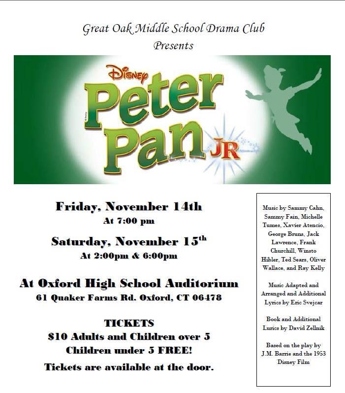Great Oak Middle School Drama Club Presents Peter Pan Jr.
