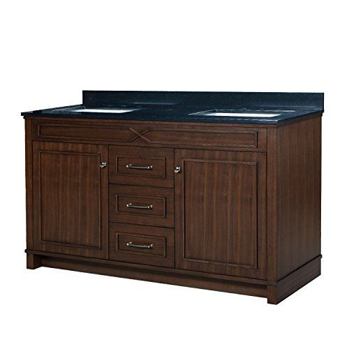 Furniture grade construction in a transitional design and finish Dovetail drawers with undermount glides insure this vanity is built to last Vanity comes fully assembled for quick installation