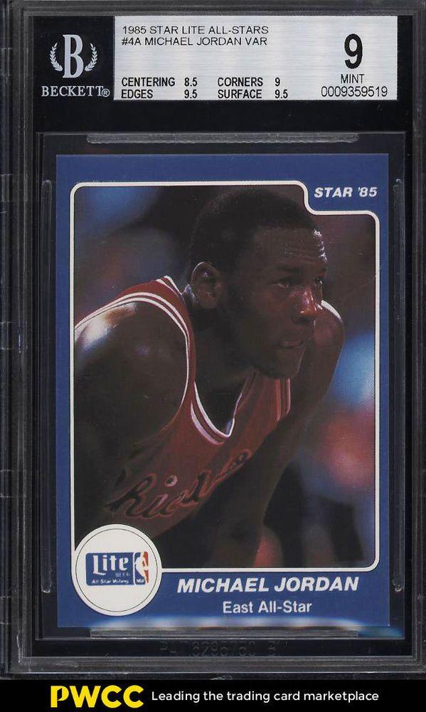 1985 Star Lite All Stars Michael Jordan Rookie Rc 4 Bgs 9