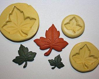3D Tree Leaf Molds Coconut Tree Watermelon Pineapple ...  Plane Tree Leaf Silicone Molds