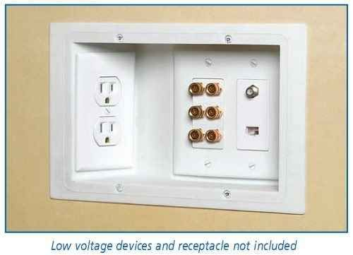 Recessed outlets mean that your furniture can actually sit up against the wall.