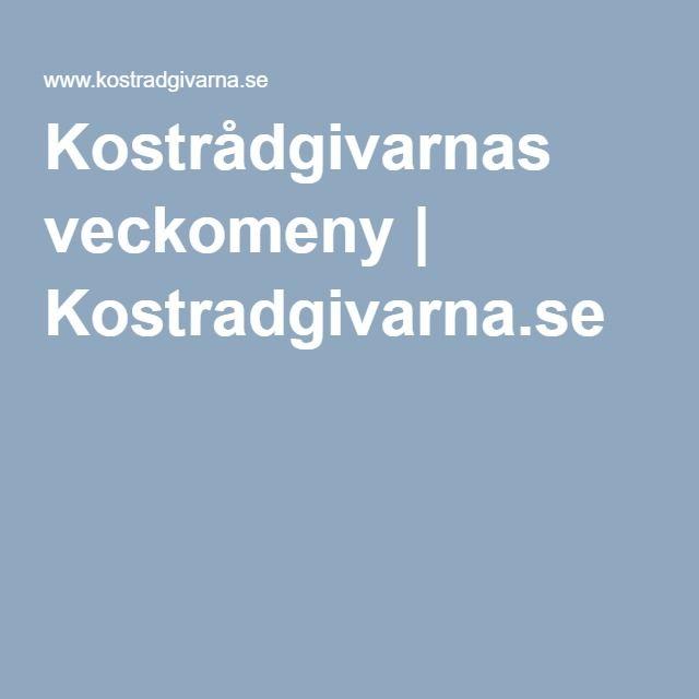 Kostrådgivarnas veckomeny | Kostradgivarna.se