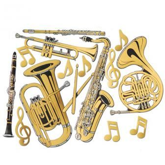 Lovely Wanddeko Musikinstrumente gold cm tlg