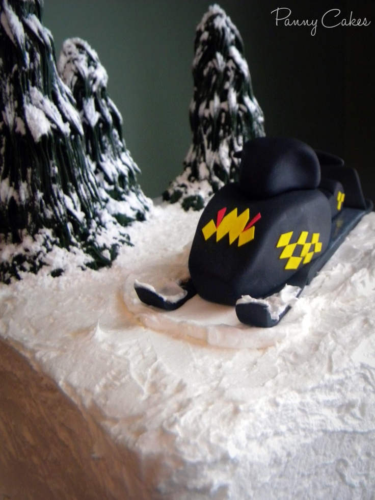 Fondant Snowmobile Replica Panny Cakes Confections
