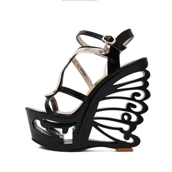 Sexy Hollow Out Platform High Wedge Sandals Club Shoes $36.99