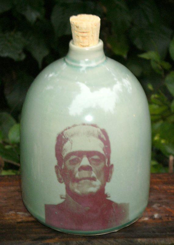 Frankenstein Jug Ceramic Handmade