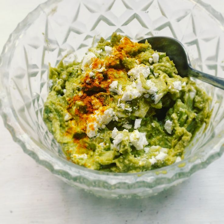Super-boosted avocado feta smash with tumeric. From Absolute Potential