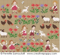 Perrette Samouiloff - Happy Childhood Collection - Sheep (cross stitch) - via http://bit.ly/epinner