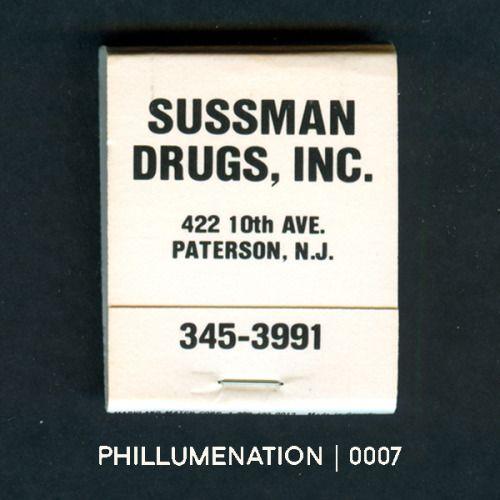 #Phillumenation 0007 : Sussman Drugs, Inc.   Paterson, New Jersey, USA
