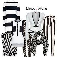 Afbeeldingsresultaat voor zwart witte kleding