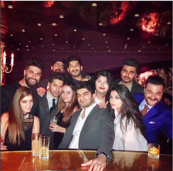 PIC: Varun Dhawan and girlfriend Natasha Dalal were inseparable at Anil Kapoors birthday bash