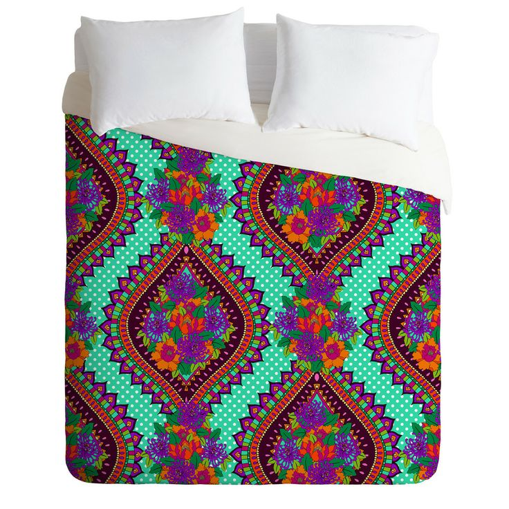 Aimee St Hill Ivy Teal Duvet Cover | DENY Designs Home Accessories