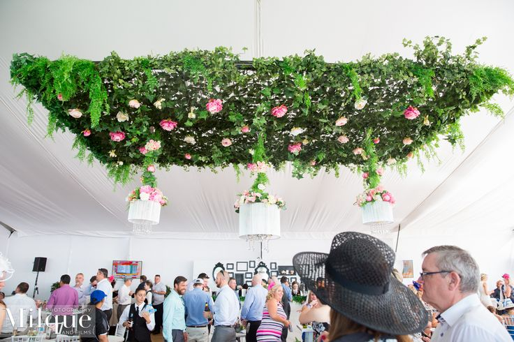 Incredible hanging green wall in the Grand Pavilion Fashion Marquee